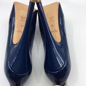 Louis Vuitton Shoes - Louis Vuitton Oh Really Open Toe Lock Pump Shoes